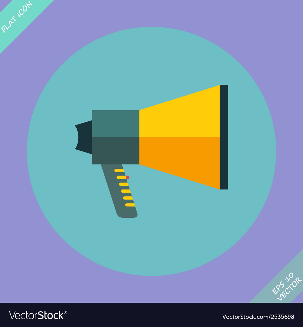 Megaphone icon - vector | Price: 1 Credit (USD $1)