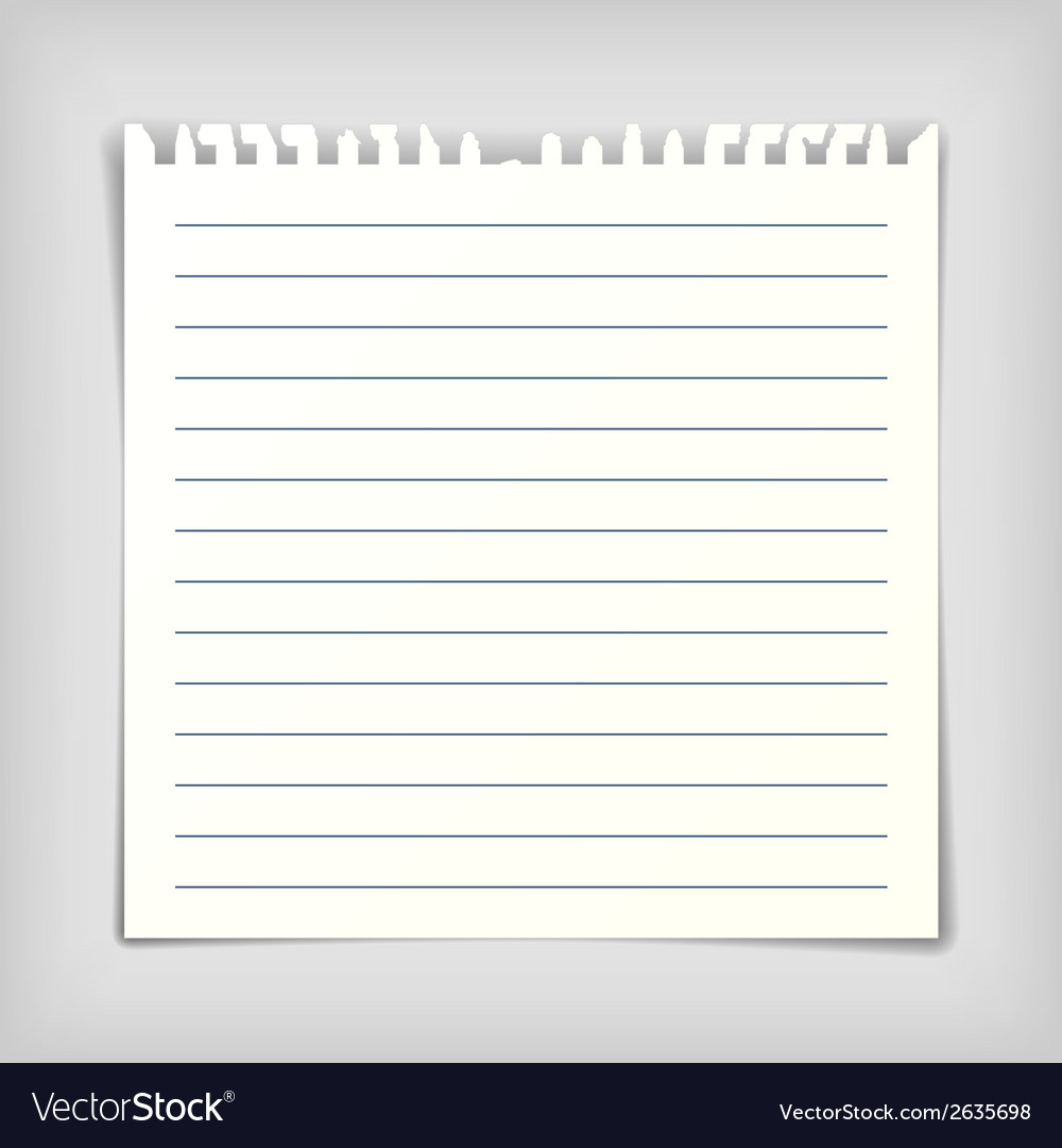 Note paper sheet with lines vector | Price: 1 Credit (USD $1)