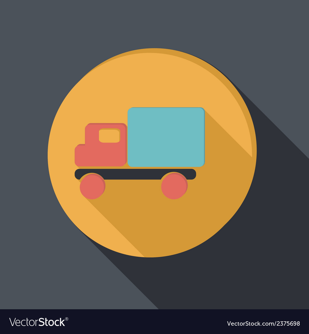 Paper flat icon truck logistic icon vector | Price: 1 Credit (USD $1)