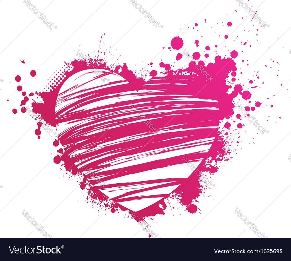 Pink heart grunge vector | Price: 1 Credit (USD $1)