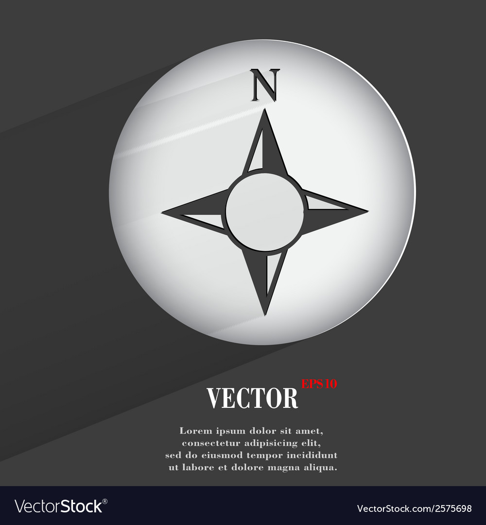 Side of the world compass flat modern web button vector | Price: 1 Credit (USD $1)