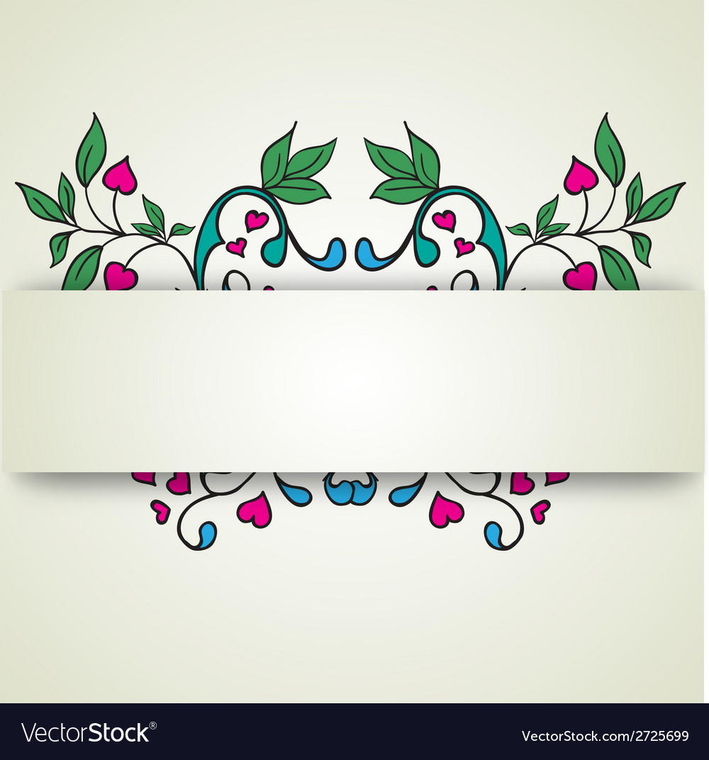 Abstract flowers on a light background for text vector | Price: 1 Credit (USD $1)