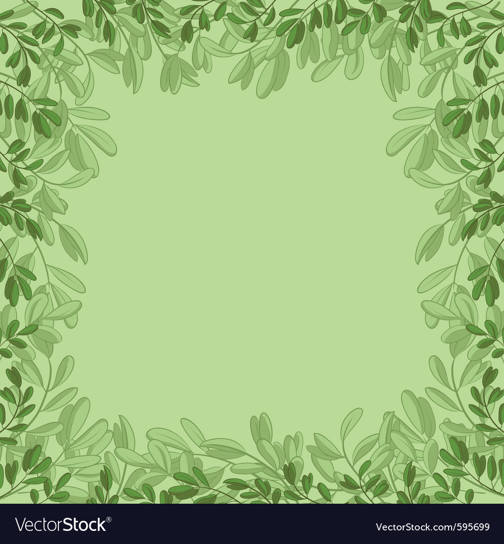 Background green leaves vector | Price: 1 Credit (USD $1)