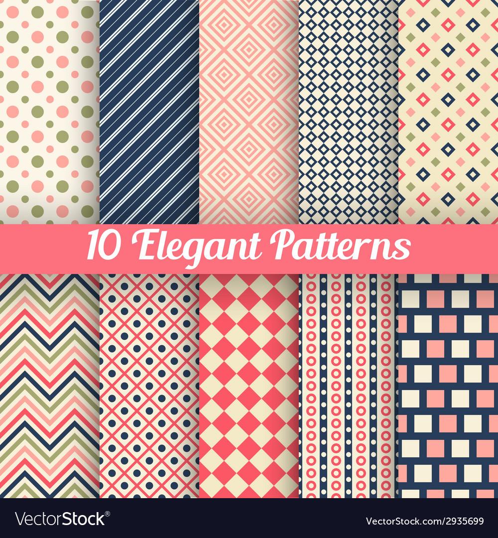 Elegant seamless patterns vector | Price: 1 Credit (USD $1)