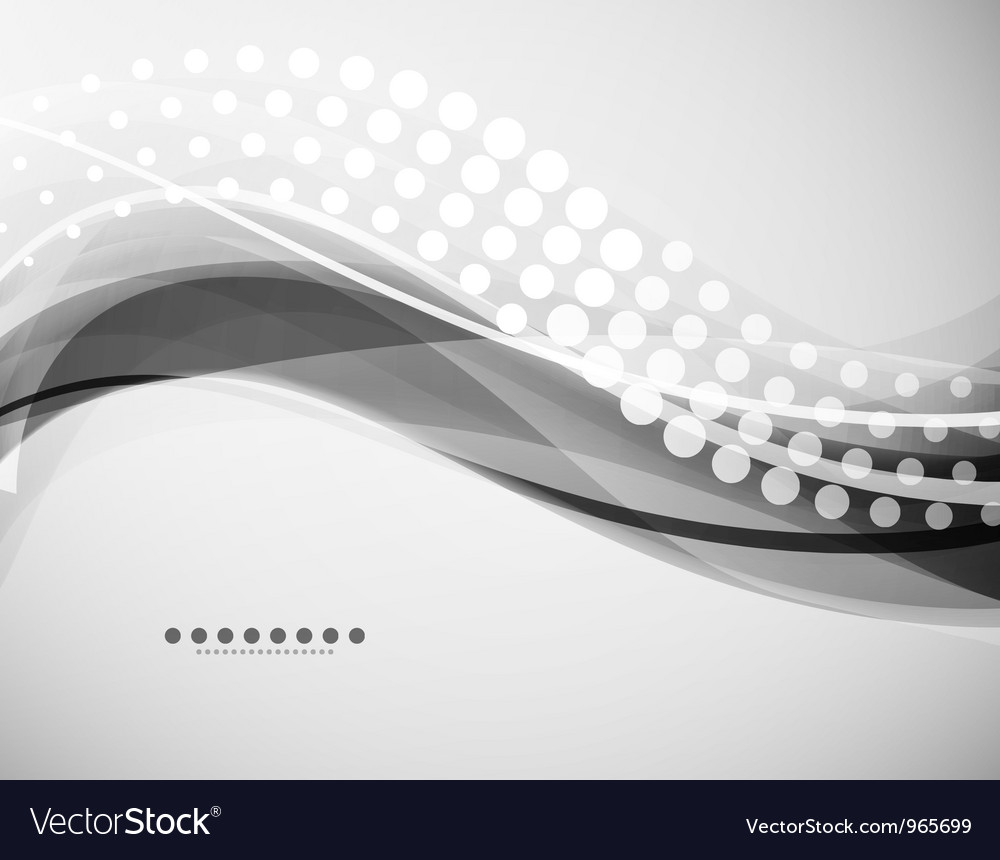Grayscale wave background vector | Price: 1 Credit (USD $1)
