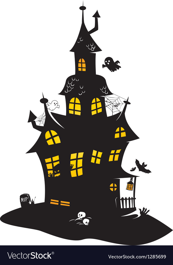 Haunted mansion vector | Price: 1 Credit (USD $1)
