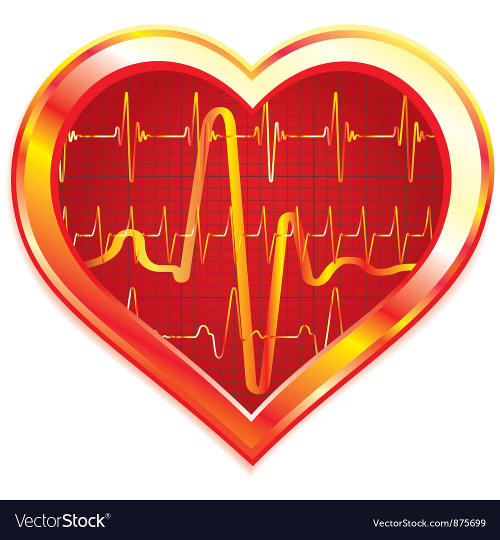 Heart pulse vector | Price: 1 Credit (USD $1)