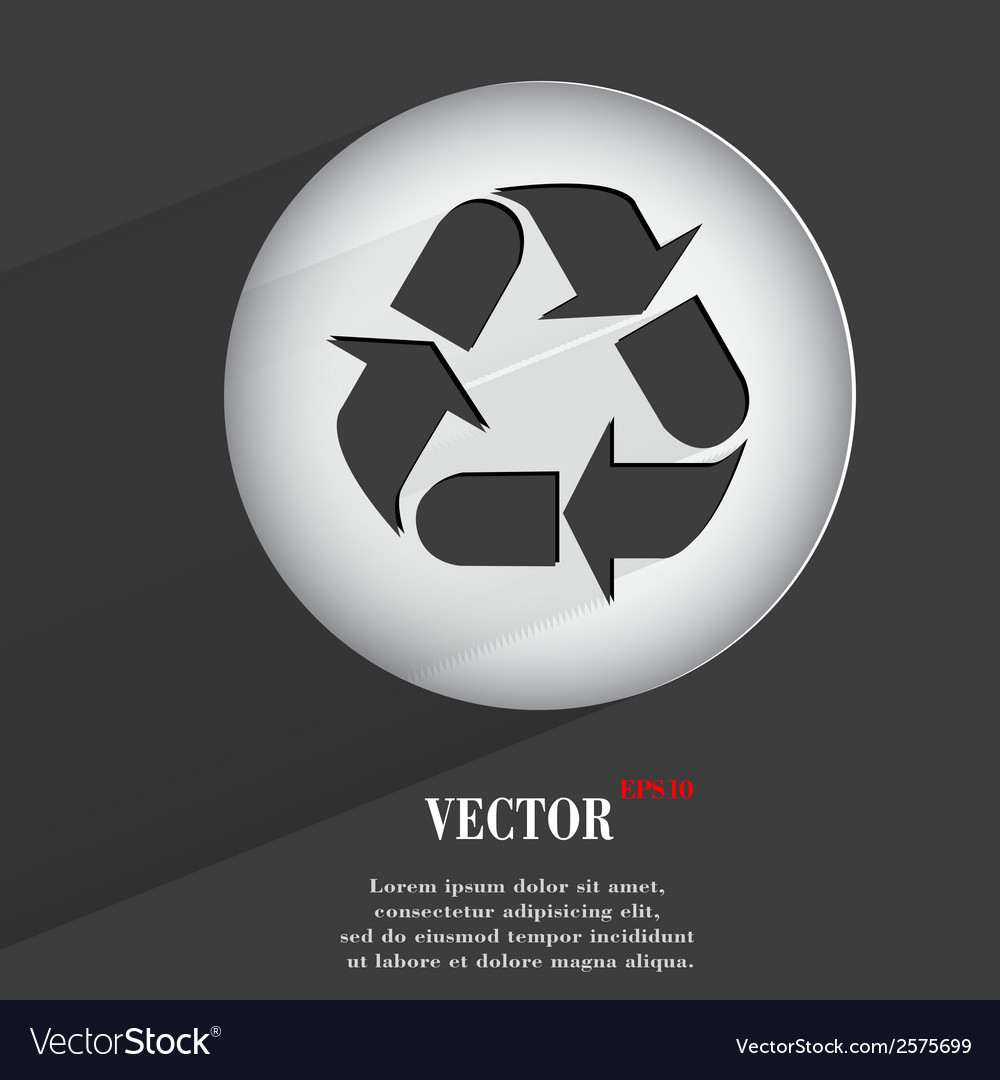 Processing flat modern web button with long shadow vector | Price: 1 Credit (USD $1)