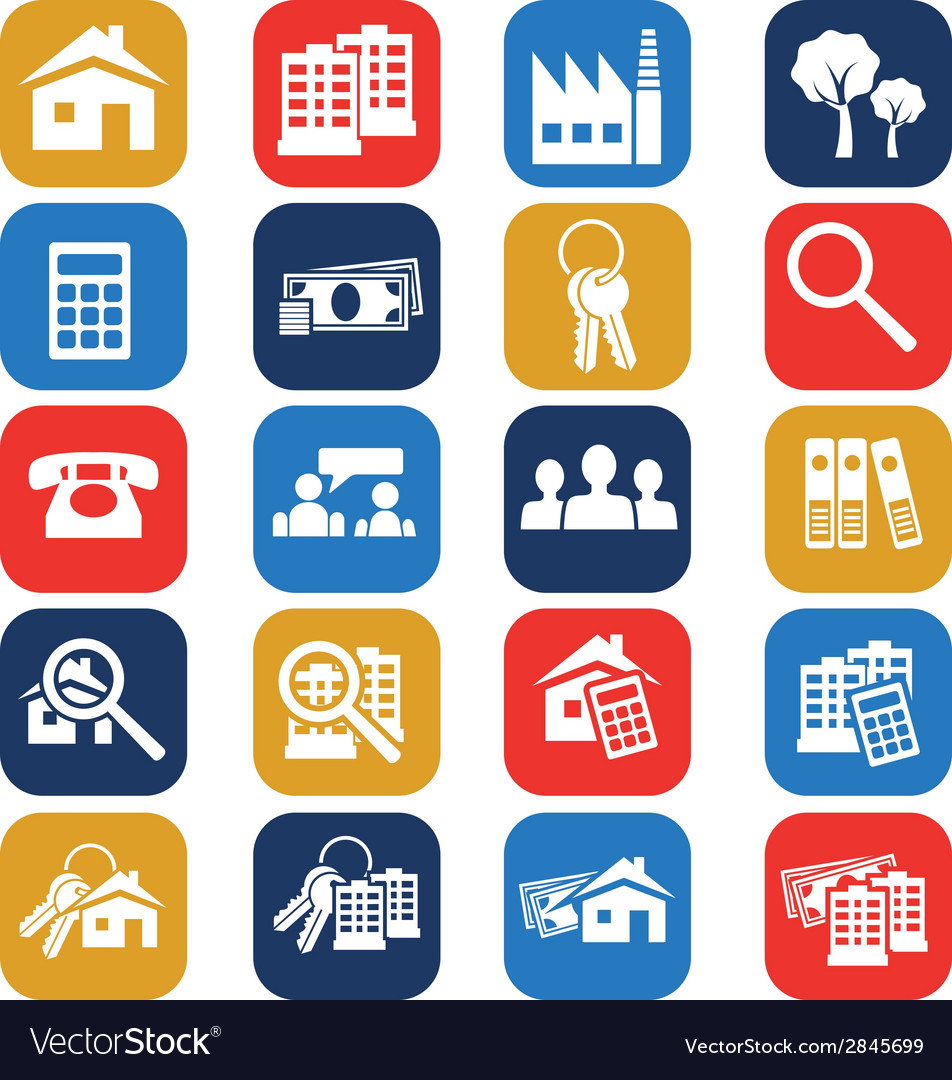 Real estate icons vector | Price: 1 Credit (USD $1)