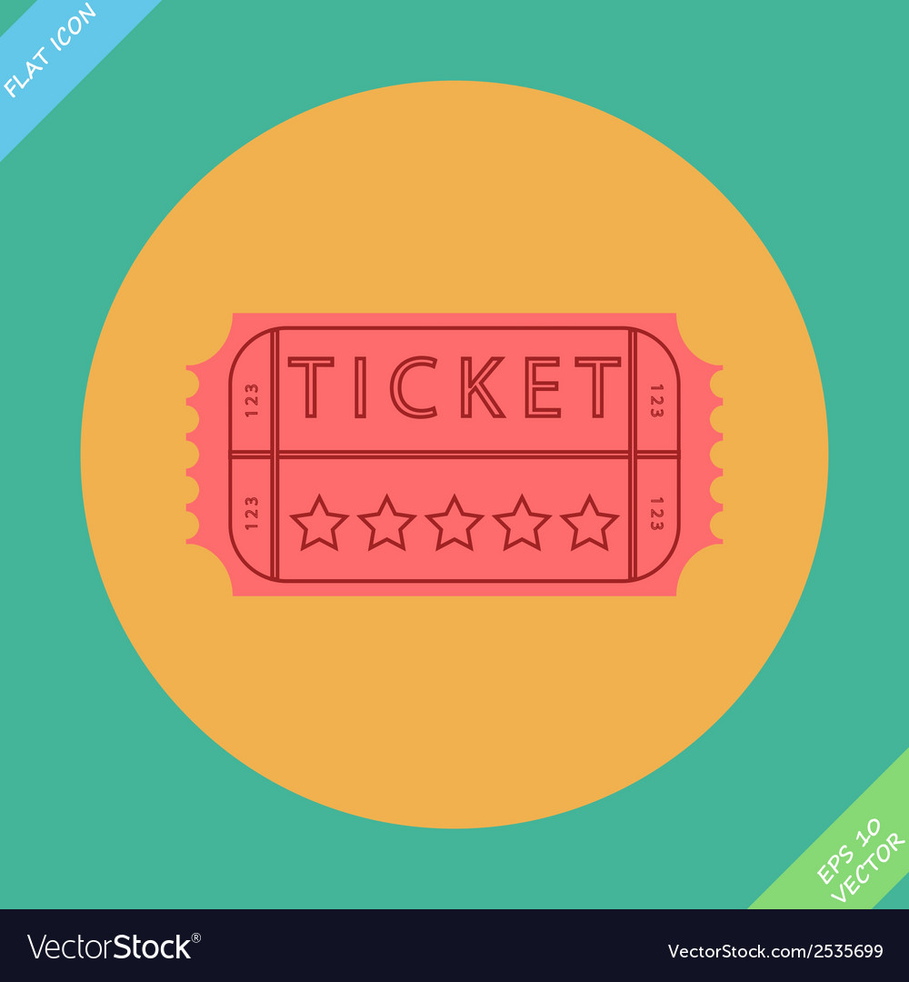 Retro cinema ticket - vector | Price: 1 Credit (USD $1)