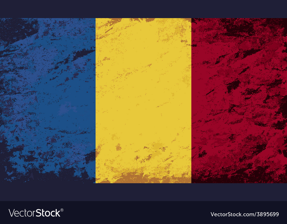 Romanian flag grunge background vector | Price: 1 Credit (USD $1)