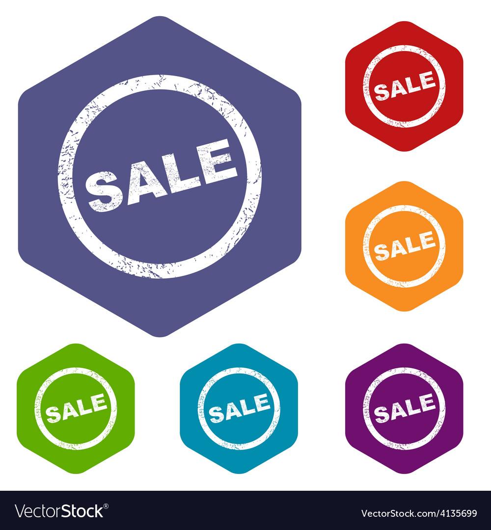 Sale rhombus icons vector | Price: 1 Credit (USD $1)