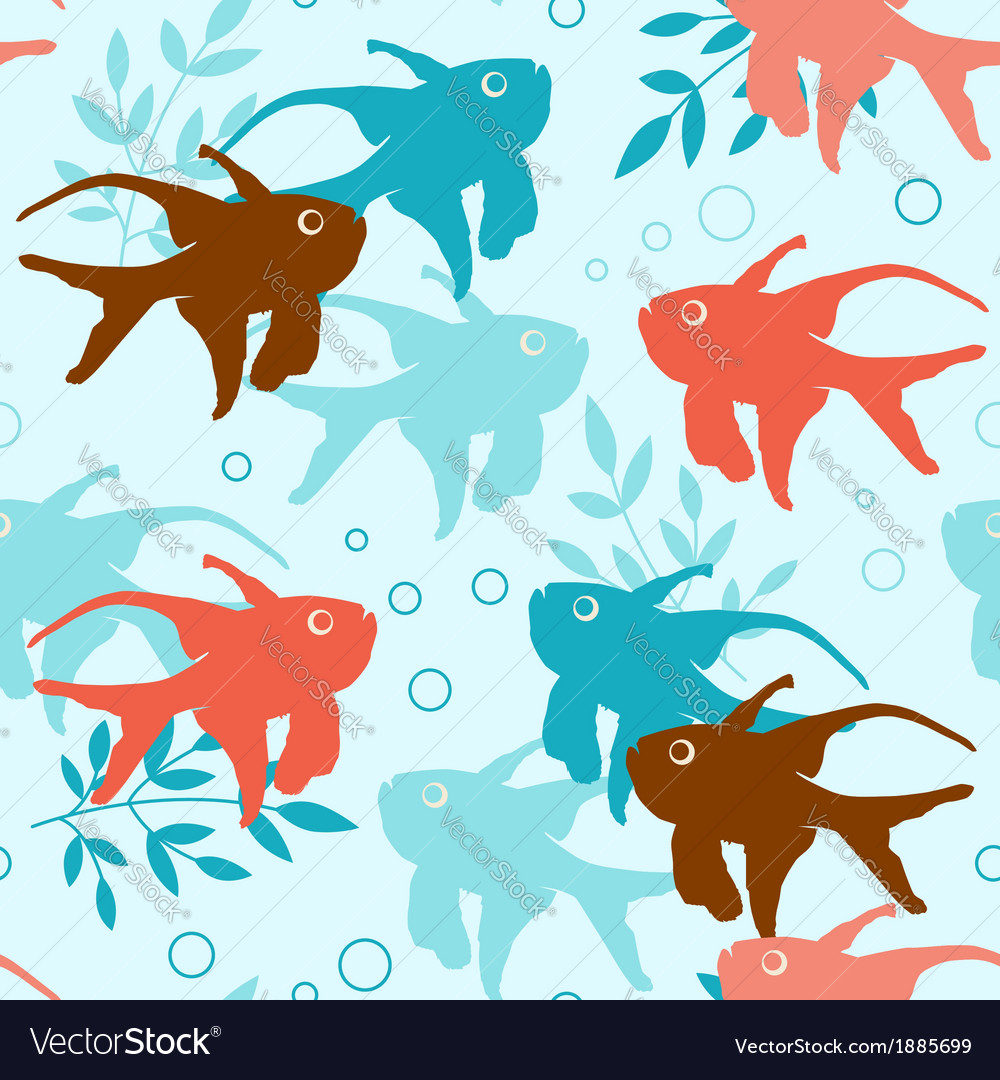 Seamless pattern with tropical fishes vector | Price: 1 Credit (USD $1)