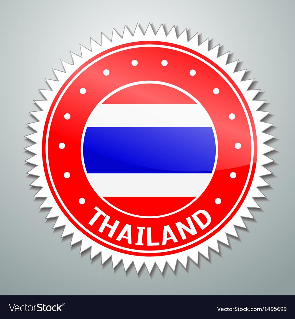Thai flag label vector | Price: 1 Credit (USD $1)