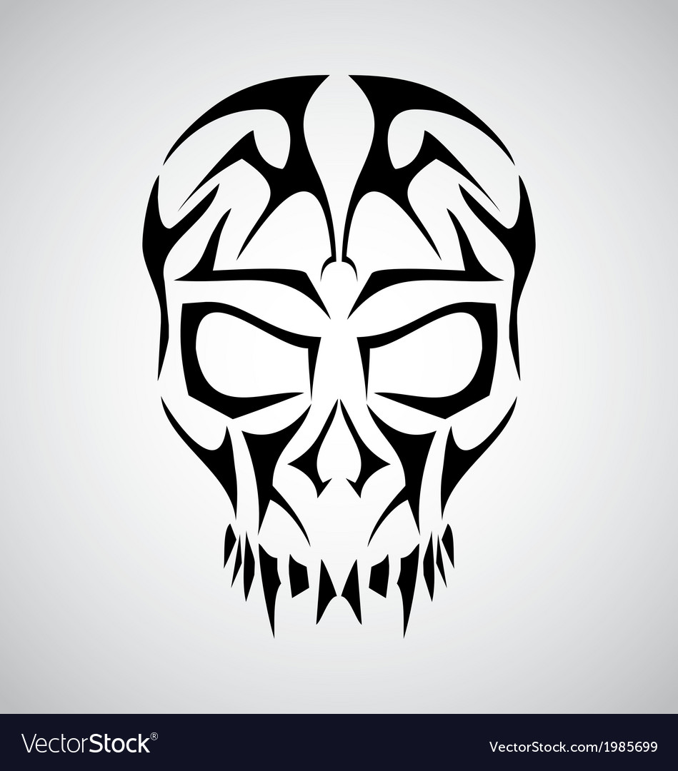 Tribal skull face vector | Price: 1 Credit (USD $1)