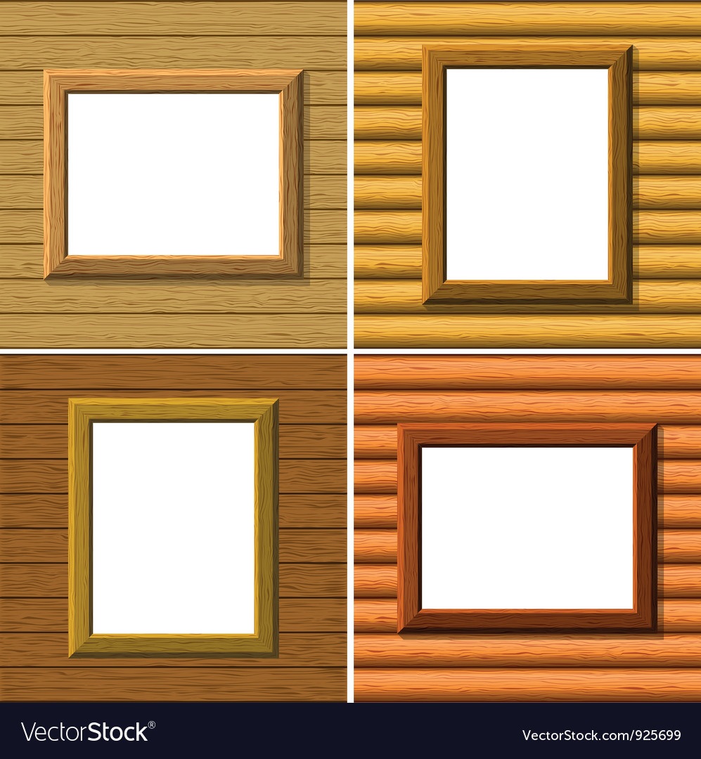 Wood frame on wall set vector   Price: 3 Credit (USD $3)