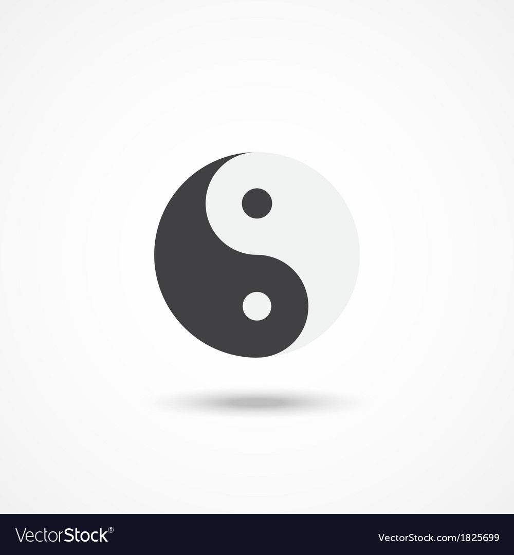 Ying yang icon vector | Price: 1 Credit (USD $1)