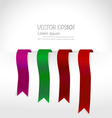 Shiny ribbon promotional products design vector