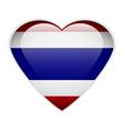 Thailand flag button vector