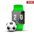 Design example sport wrist smartwatch vector