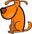 Cartoon doodle of cute dog vector