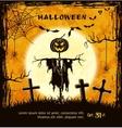 Spooky card for halloween vector