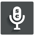 Paid music icon microphone dollar euro symbol vector