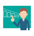 Businessman pointing at graph vector
