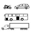 Bike car bus truck vector
