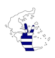 Greece hand signal vector