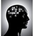Brainstorm puzzle vector