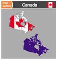 Canada maps vector