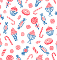 Sweet desserts seamless pattern vector
