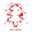 Ink christmas tree vector
