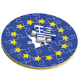Europe puzzle with greece vector