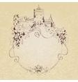 Sketch castle background vector