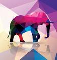 Geometric polygonal elephant pattern design vector