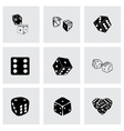 Dice icon set vector