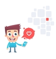 Dating app for smartphone vector