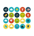 Flat icons set 23 vector
