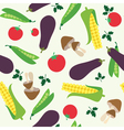 Vegetable seamless background vector