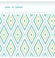 Green ikat diamonds horizontal torn seamless vector