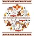 Seamless colored tribal american badge label vector