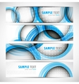 Set of banners with circles vector