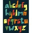 Colorful 3d lower case alphabet vector