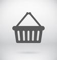 Flat cart bucket sign shopping bin symbol vector