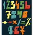 Colorful 3d numbers vector