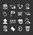 Set icons of shopping and e-commerce vector