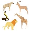 Set 2 of cartoon african animals vector
