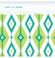 Emerald green ikat diamonds horizontal torn vector